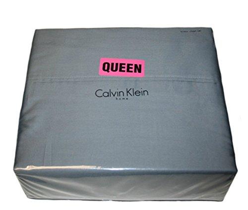 Calvin Klein 4 Piece Cotton Queen Size Sheet Set 320 Thread Count Sateen Medium Gray Calvin Klein Bed Pillow