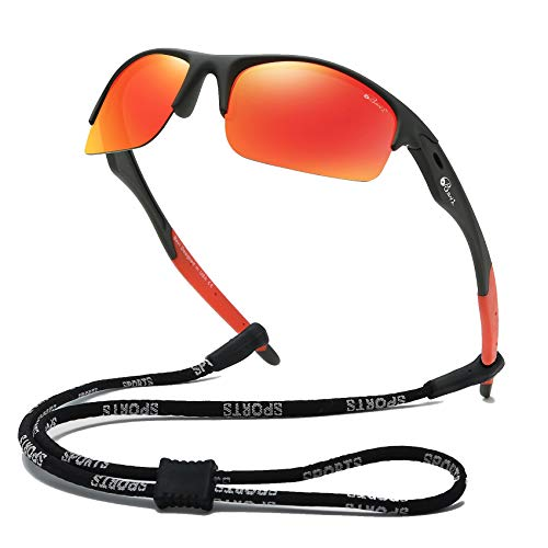 Bevi Polarized Sports Sunglasses TR90 Frame UV Protection for Men and Women Cycling Baseball Running Golf