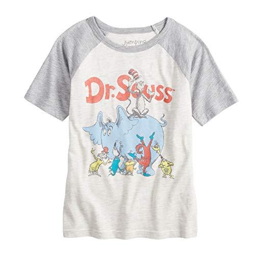 Jumping Beans Little Boys' 4-12 Seuss Group Tee 6 Oatmeal/HTR Gry
