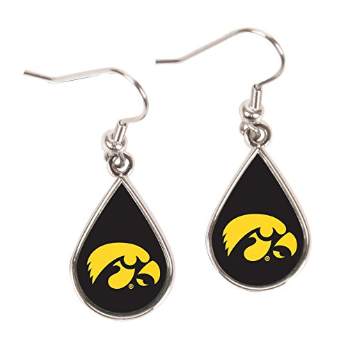 WinCraft NCAA Iowa Hawkeyes Tear Drop Earrings, Large, Multi ()