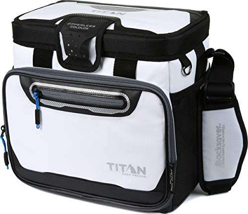 (Arctic Zone Titan Deep Freeze 16 Can Zipperless Cooler, White)