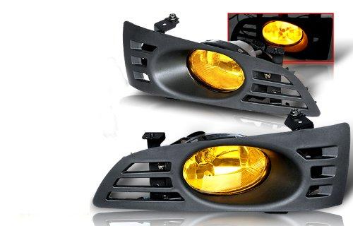 03-05 Honda Accord 2Dr Yellow OEM Style Fog Lights Kit