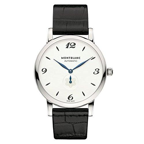 Montblanc Watches Reloj Analógico para Hombre de Automático con Correa en Cuero 107073: Amazon.es: Relojes