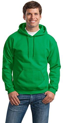 Gildan Mens Heavy Blend Hooded Sweatshirt, 5XL, Irish Green