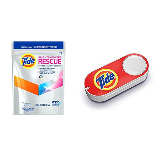 Tide Brights and Whites Rescue Laundry Pacs in-Wash Detergen