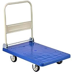 Goplus - Carrito plegable de plataforma con ruedas; plataforma de carga manual con ruedas: Amazon.es: Bricolaje y herramientas