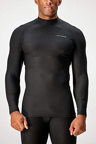 DEVOPS 2~3 Pack Men's Athletic Turtle Neck Long Sleeve Compression Shirts