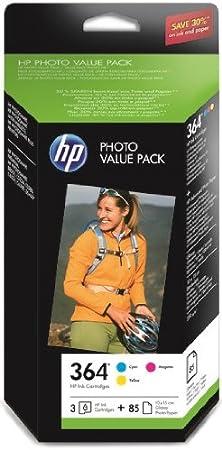 HP CH082EE#301 - Pack cartucho de tinta y 85 hojas de papel: Amazon.es: Oficina y papelería