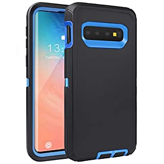 FOGEEK Compatible with Samsung Galaxy S10e Case, Protective Cover, Full Protection Rugged Case [Support Wireless Charging][Dust-Proof] for Galaxy S10e [5.8 inch] 2019 (Black/Blue)