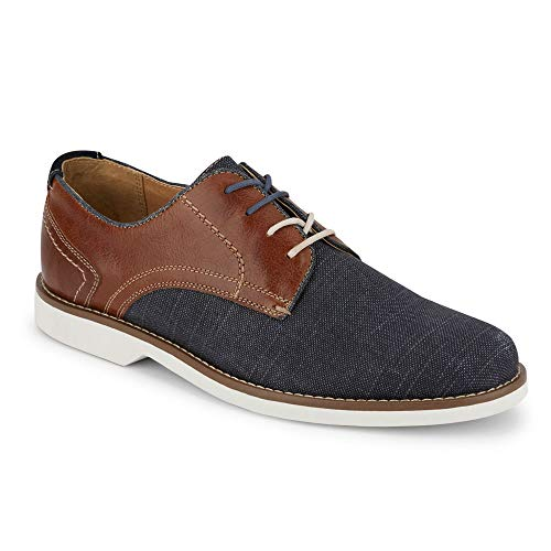 (Dockers Mens Hayes Casual Plain Toe Oxford Shoe, Navy/Brown, 8.5 M )