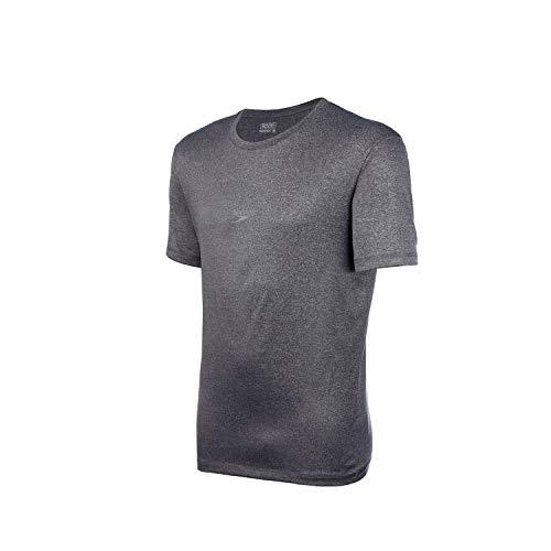 Speedo Blend Camiseta de Manga Curta, Homens, Cinza, M