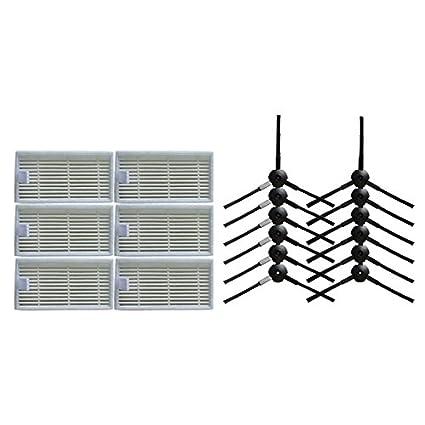 6 X Side Brush For Ilife V3S// V5S// V5// A6// A4// A4s Series Sweeping Robot R
