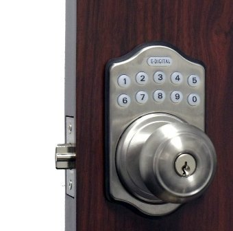 Edigital Keyless Electronic Knob Lock Finish: Satin Chrome by Lockey USA by Lockey USA