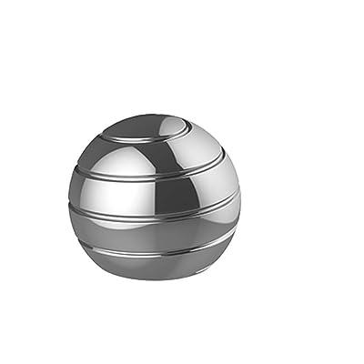 Yangmg Juguetes Divertidos, Bola de descompresión de Escritorio Revolve Desktop Toys for niños y Adultos (Dorado) ( Color : Silver ): Juguetes y juegos