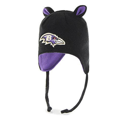 (NFL Baltimore Ravens TOD Scalywag OTS Knit Cap, Black, Toddler )