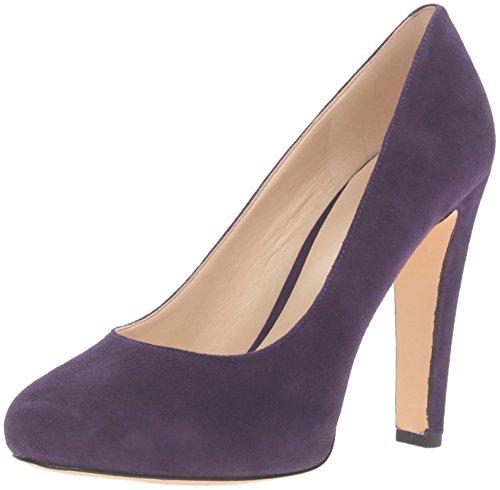 Nine West Women's Brielyn Suede Platform Pump, Dark Purple, 7 M (Suede Platform Pumps)