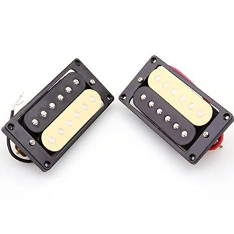 DN 1 Conjunto De 2 Humbucker doble bobina de la guitarra eléctrica Pastillas Negro / Crema: Amazon.es: Instrumentos musicales