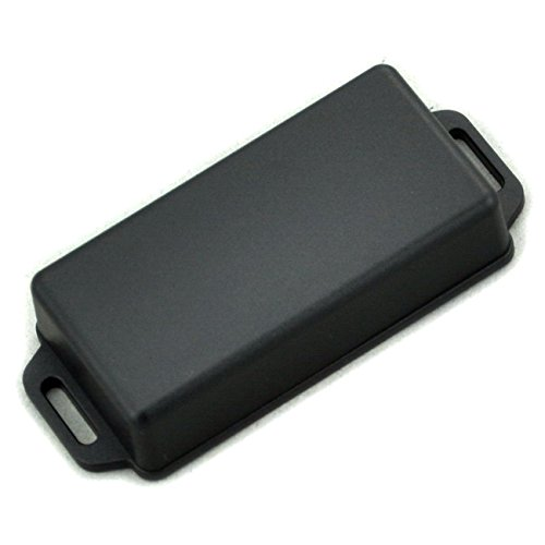 Electronics-Salon Small Wall-mounting Plastic Enclosure Box Case, Black, 81x41x20mm,.