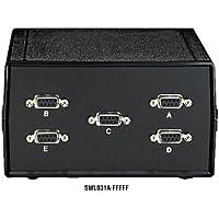 Black Box Desktop DB9 4 to 1 Manual Switch FFMFF All Leads