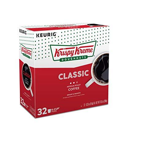 Krispy Kreme Smooth Keurig Single-Serve Light Roast Coffee K-Cup Pods, 32 Count