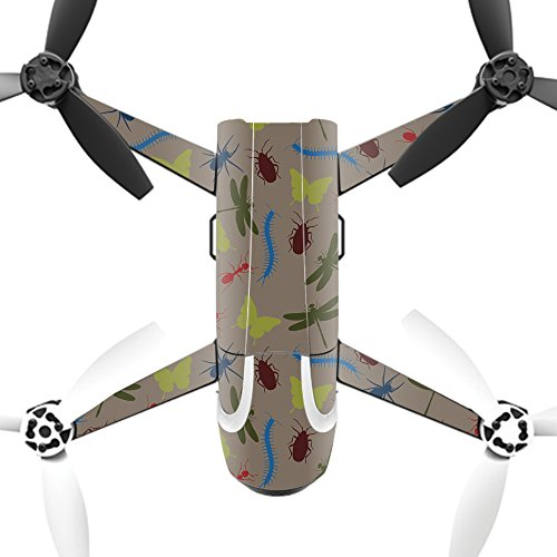 MightySkins Protective Vinyl Skin Decal for Parrot Bebop 2 Quadcopter Drone wrap cover sticker skins Creepy Crawly by MightySkins