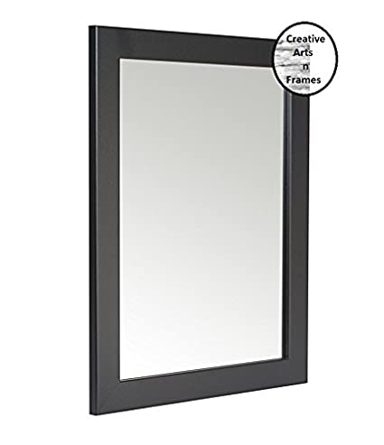 Creative Arts N Frames Black Color Synthetic Fiber Wood Made Framed Mirror,Size - 10Inch X 12Inch