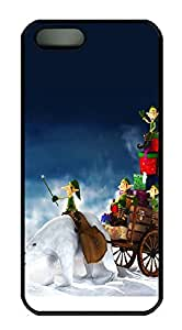 iPhone 5 5S Case Carrying Christmas Presents PC Custom iPhone 5 5S Case Cover Black
