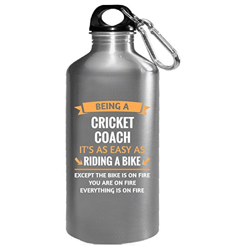 Funny Cricket Coach Design Gift - Water Bottle by This Gift Rocks !