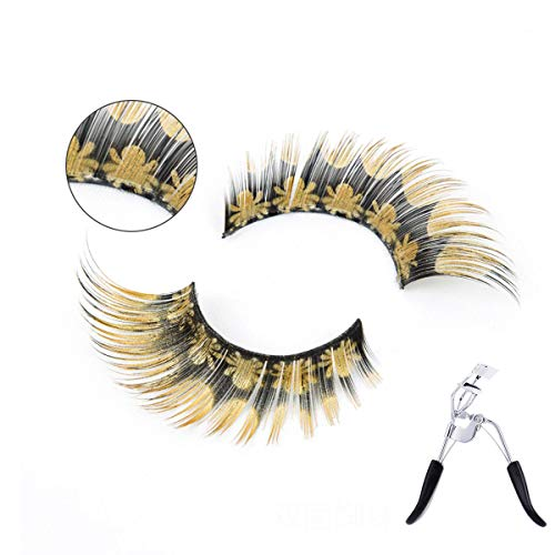 (3D Fake Eyelashes Natural Thick False Eye Lashes Makeup Extension Nature Brown Spider Double-Sided Printing Handmade With Eyelash)