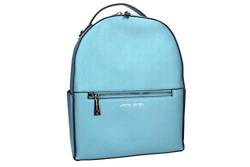 Bolsa mujer mochila hombro PIERRE CARDIN azul con abertura zip VN988