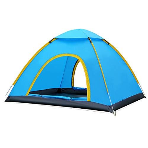 L tent Automatische Pop-Up Zelt,Doppelseitige TüR Schiebedach-Design,Wasserdicht und 100% UV-GeschüTzt,SchlafmöGlichkeiten füR Bis Zu 4 Personen-Geeignet füR Camping Wandern Familienreisen Strand
