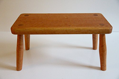 wooden-cherry-stool-four-leg-with-mortice-and-tenon-joints-and-tung-oil-finish-heirloom-quality-made