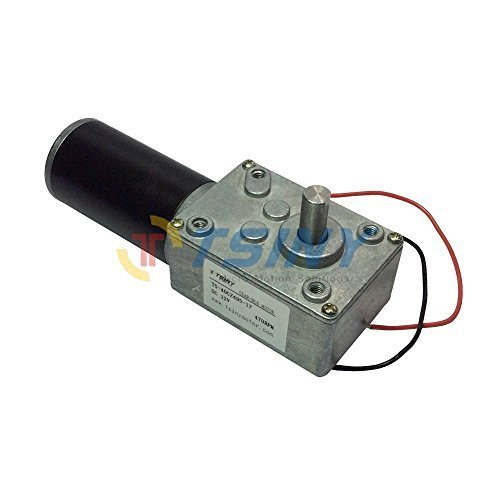 TSINY Reversible 12V Electrical Little DC Worm Gear Motor 470 RPM High Speed with Metal Geared Box Reducer Output Shaft 8mm