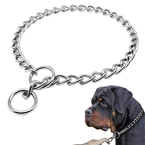 Freezx Dog Choke Collar Slip P Chain - Heavy Chain Dog Titan Training Choke Collars - Adjustable Stainless Steel Chain Dog Collars Covered with Galvanic Plating - Best for Small - Collar Steel Heavy Choke