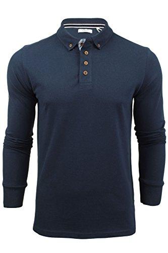 Mens Polo T-shirt da Xact Maniche lunghe (Oceano blu) XL