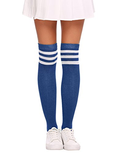 Anhoney 4 Pairs Three Stripe Over Knee High Casual Athletic Sport Volleyball Tube Socks supplier