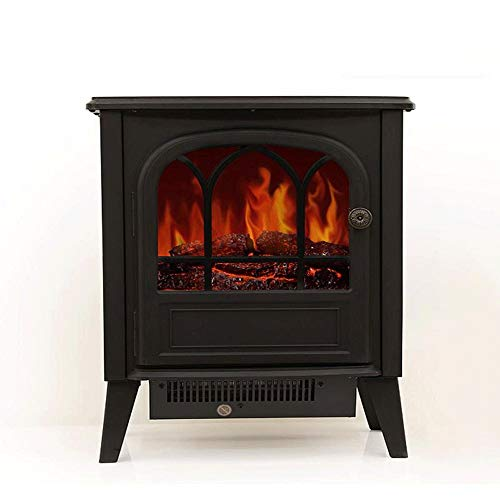 Cheap RKRGQ Electric Fireplace Fireplace Stove Heater Log Burner Electric Fire Stove Electric Fireplace Heater with Realistic Flame Effect Overheat Protection 900/1800W Black Friday & Cyber Monday 2019