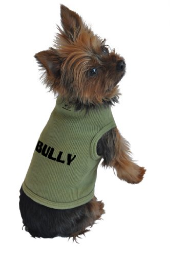 Ruff Ruff and Meow Dog Tank Top, Bully, Green, Extra-Large, My Pet Supplies