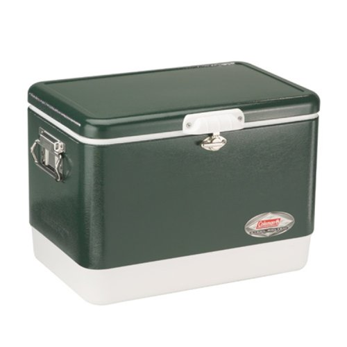 Coleman Steel-Belted Portable Cooler, 54 Quart, Olive Green ()