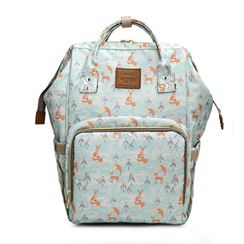 Diaper Bag Backpack for Mom/Dad, ALOVEY Multi-Function Waterproof Nappy Bags Fox