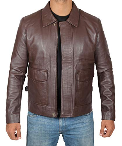 Indiana Jones Brown Leather Jacket - Harrison Ford Brown Vintage Leather Jacket - 2XL