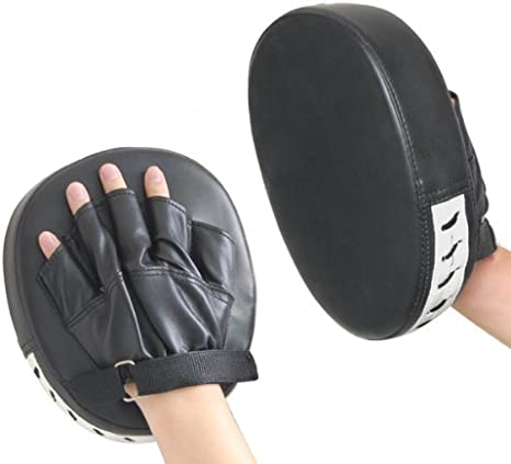 Pair of MMA Punch Mitts Focus Boxing Pads Sparring Gloves Thai Kick Karate Mauy