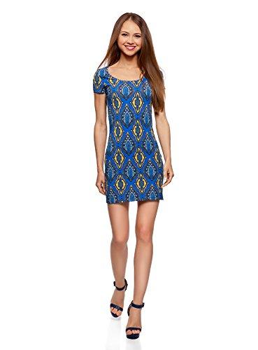 Robe Ultra Maille 7657e Moulante Bleu Femme oodji en vHqSEHxw