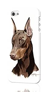 Doberman Pinscher Pattern Image - Protective 3d Rough Case Cover - Hard Plastic 3D Case - For iPhone ipod touch4