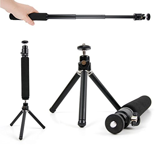 DURAGADGET Lightweight & Ultra-Portable, Telescopic 2-in-1 Tripod / Monopod (Selfie-Pod) for the NEW Panasonic Lumix DMC-G7 by DURAGADGET