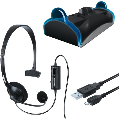 dreamGEAR PlayStation 4 Charge and Chat Bundle
