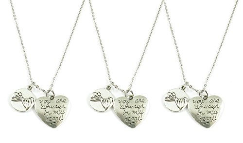 3 Pinky Promise Pinky Swear Infinity Best Friend Sisters Necklaces or Key Chain BFF You Are Always in My Heart