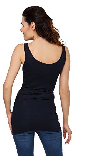Zeta Ville - Premamá camiseta sin mangas cuello redondo profundo - mujer - 792c Armada