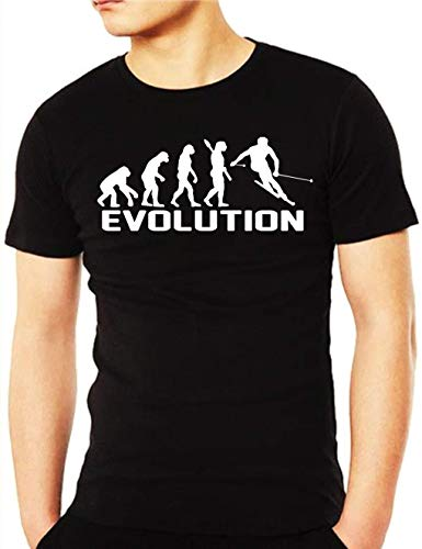 Uomo Nero Sciatore Maglietta Evolution shirt T Wixsoo nZAW1Bx