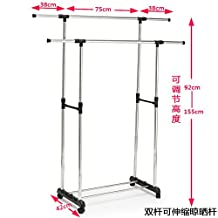 Simple Clothes airer clothes drying rack hangers are cool-ceiling telescoping folded double bar , indoor double bar stretch